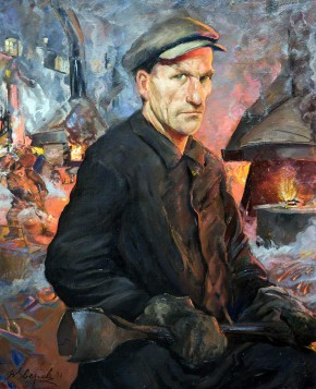 Portrait of Iosif Giryat, Shock Worker of the Karl Marx Factory